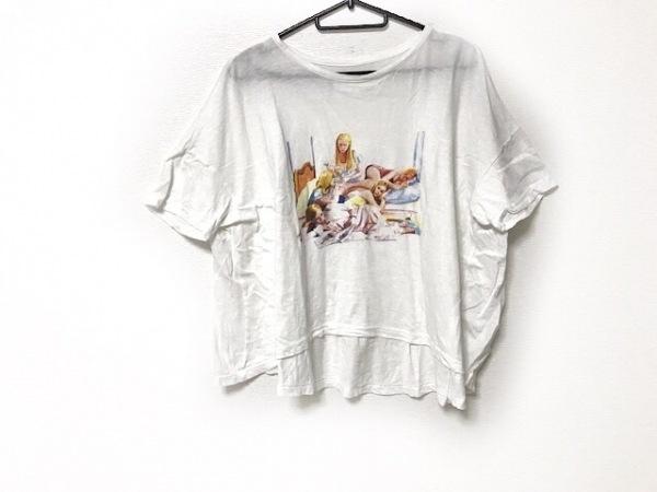 bedsidedrama(ベッドサイドドラマ) 半袖Tシャツ レディース 白×マルチ