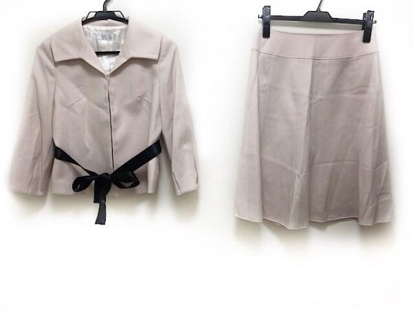 petitpoudre(プチプードル) スカートスーツ サイズ9 M レディース ピンクベージュ