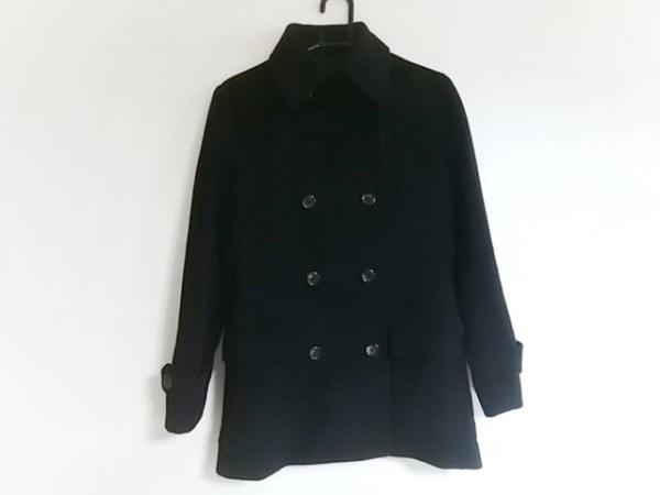 Gabardine K.T(ギャバジンケーティ) Pコート サイズ7 S レディース美品  黒 冬物