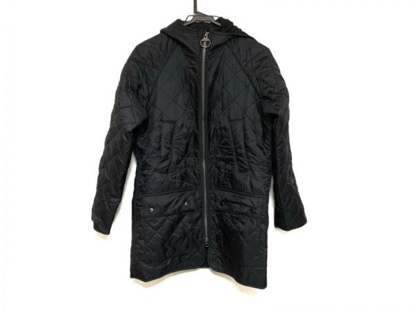 バーブァー コート サイズ34 S メンズ美品  黒 冬物/キルティング/ダブルジップ
