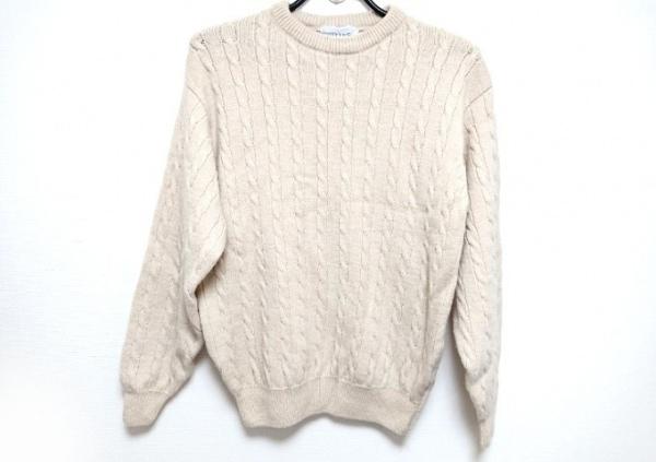 SHIPS(シップス) 長袖セーター サイズM メンズ新品同様  アイボリー
