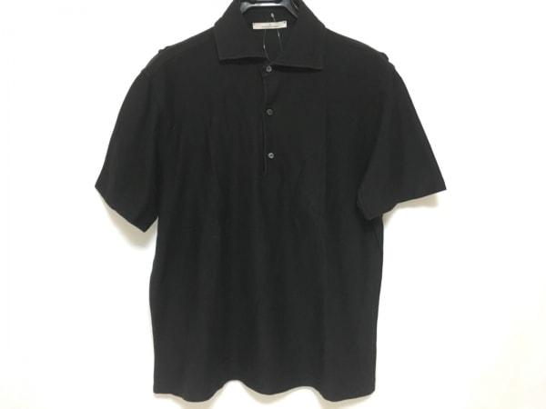 ErmenegildoZegna(ゼニア) 半袖ポロシャツ メンズ 黒
