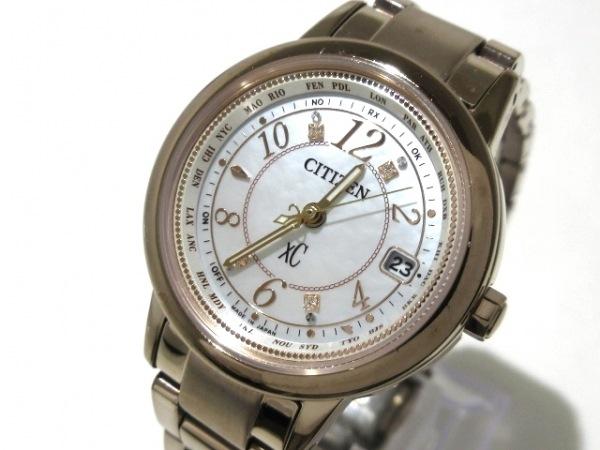 CITIZEN(シチズン) 腕時計美品  クロスシー H240-T022740 レディース ピンクゴールド
