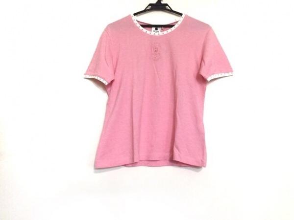 PICONE(ピッコーネ) 半袖Tシャツ サイズ40 M レディース美品  ピンク×白×レッド
