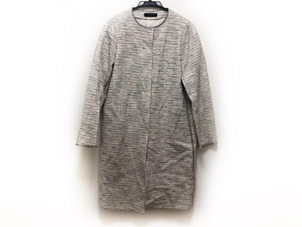 ユナイテッドアローズ コート サイズ38 M レディース 白×黒×ライトグレー