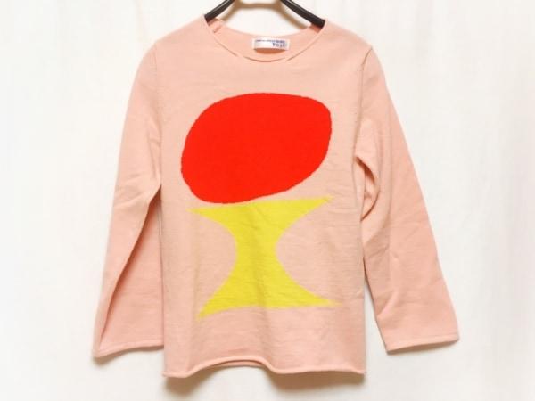 コムデギャルソンシャツ 長袖セーター メンズ ピンク×レッド×イエロー