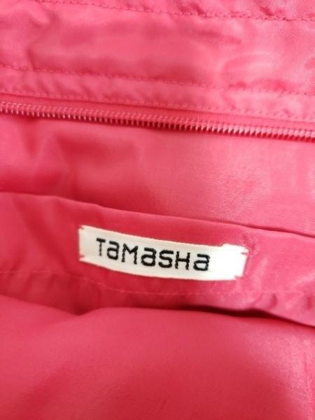TAMASHA(タマシャ) ショルダーバッグ新品同様  レッド×黒 刺繍 ナイロン