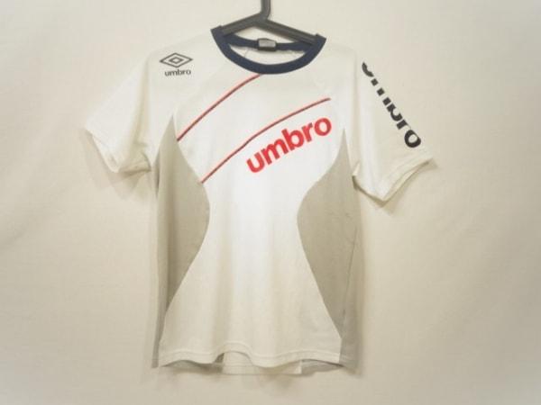 UMBRO(アンブロ) 半袖Tシャツ サイズm M メンズ 白×マルチ