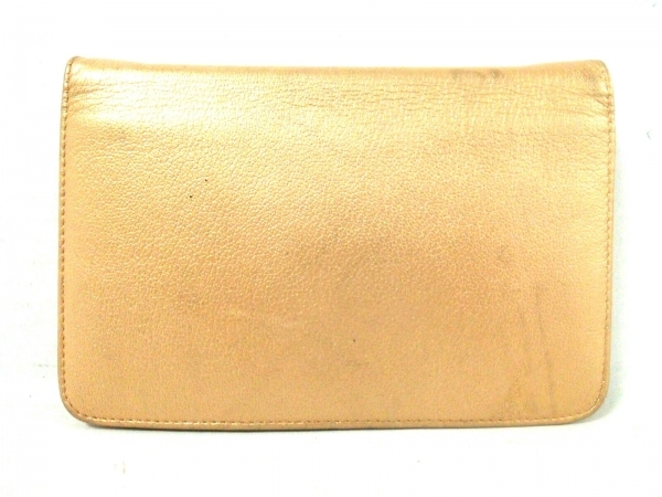 71b64d51705d ... CHANEL(シャネル) 財布 カメリア ゴールド チェーンウォレット/ゴールド金具 レザー ...