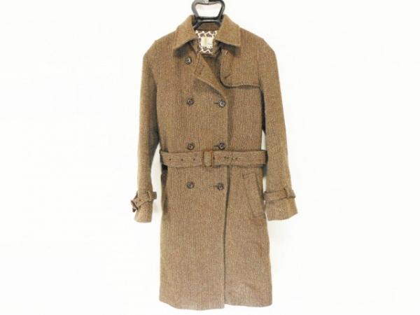 ルージュヴィフ コート サイズ2 M レディース ベージュ×ダークブラウン 冬物