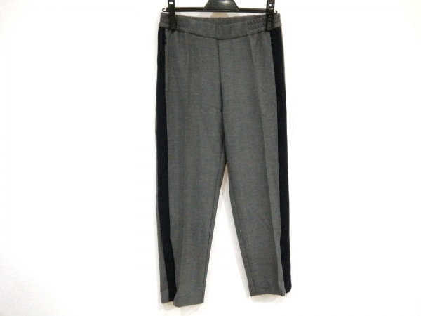 BARENA(バレナ) パンツ サイズ40 M レディース グレー×ダークネイビー
