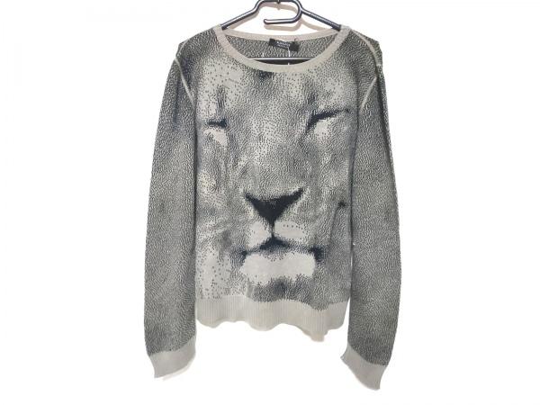 クリッツィアマグリア 長袖セーター サイズ42 L レディース美品  グレー×黒