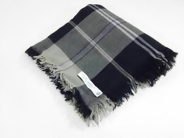 LOCHCARRON(ロキャロン) ストール(ショール)美品  黒×グレー ウール