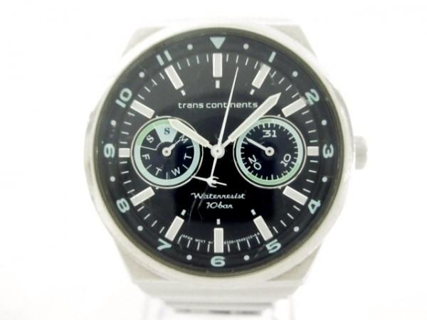 トランスコンチネンス 腕時計 6320-S029341 ボーイズ クロノグラフ 黒