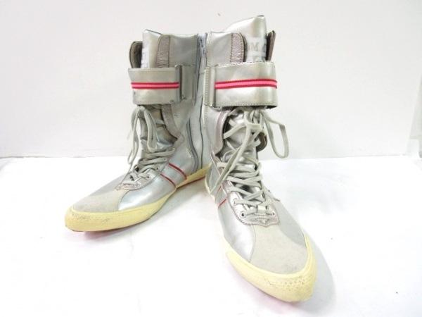 tommy girl(トミーガール) ブーツ 24.5 レディース シルバー×レッド