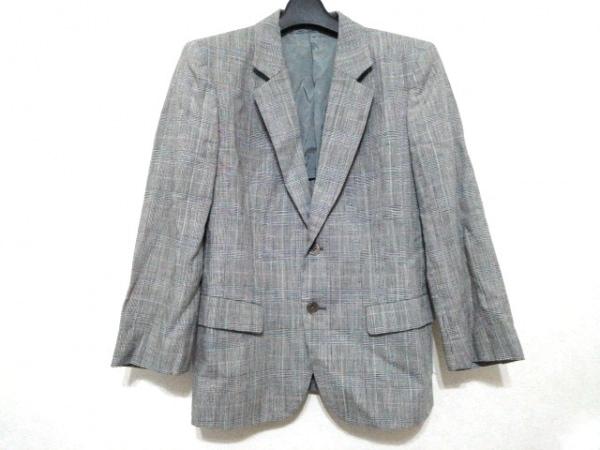 J.PRESS(ジェイプレス) ジャケット メンズ美品  ライトグレー×白×マルチ チェック柄