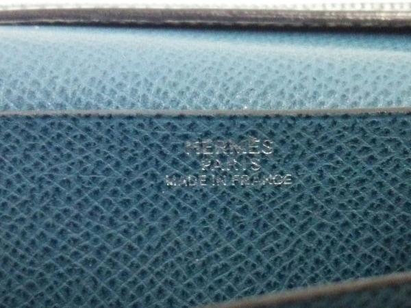 HERMES(エルメス) 長財布 ベアン ブルージーン 新型シルバー金具 ヴォーエプソン