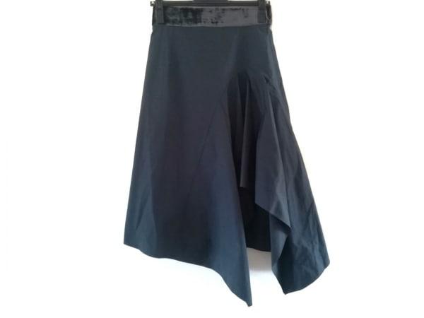 アカネ ウツノミヤ スカート サイズ36 S レディース ネイビー×ダークグレー