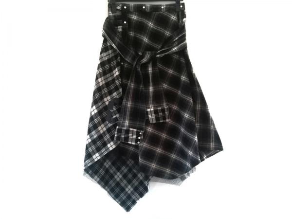 AULA(アウラ) スカート サイズ0 XS レディース 黒×ダークグレー×白