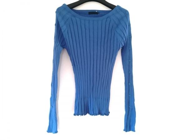 AULA(アウラ) 長袖カットソー サイズ0 XS レディース美品  ブルー