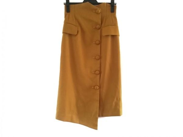 AULA(アウラ) スカート サイズ0 XS レディース美品  イエロー