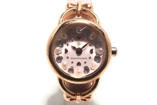 サマンサシルヴァ 腕時計 - レディース ピンク×ゴールド×アイボリー