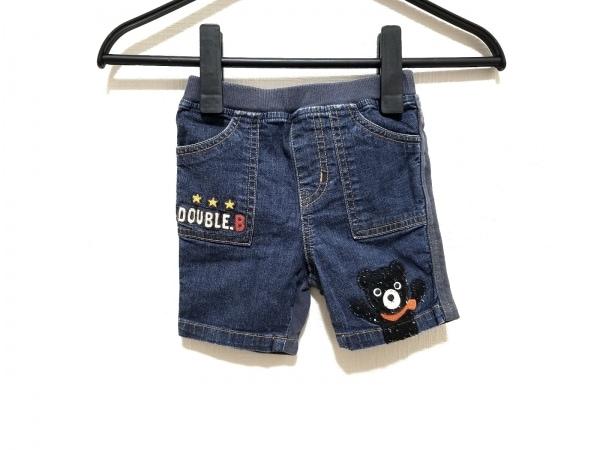 ミキハウス ハーフパンツ サイズ80 メンズ ネイビー×グレー DOUBLE.B/子供服