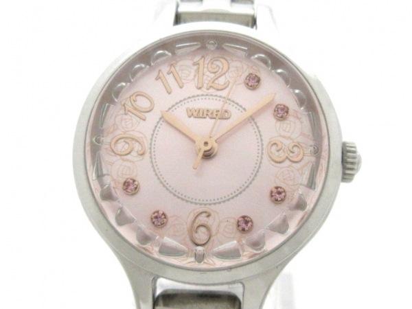 WIRED(ワイアード) 腕時計美品  1N01-0SB0 レディース ピンク