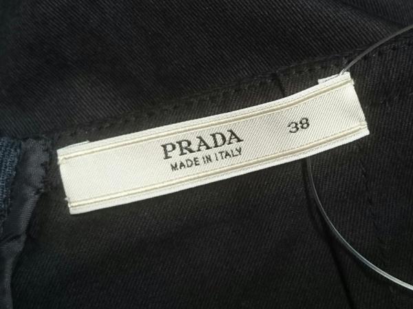 0aad0854fa68 ... PRADA(プラダ) ロングスカート サイズ38 S レディース美品 ダークネイビー フリル ...
