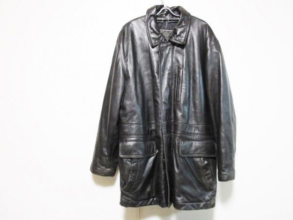 COMME CA DU MODE MEN(コムサデモードメン) コート メンズ 黒 ラムレザー/冬物