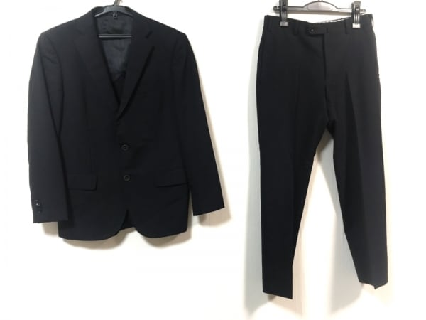 HILTON(ヒルトン) シングルスーツ メンズ ダークネイビー ネーム刺繍