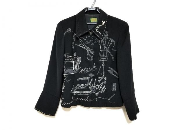 OLLEBOREBLA(アルベロベロ) ジャケット レディース美品  黒×白 刺繍