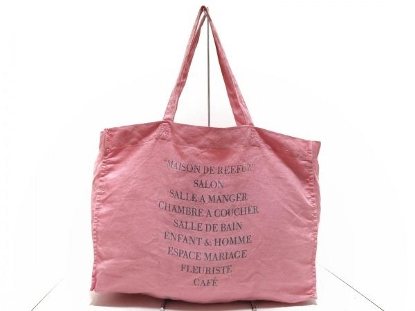 Maison de Reefur(メゾン ド リーファー) トートバッグ ピンク キャンバス