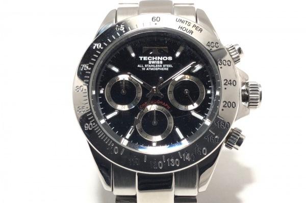 TECHNOS(テクノス) 腕時計 TGM615 メンズ クロノグラフ 黒