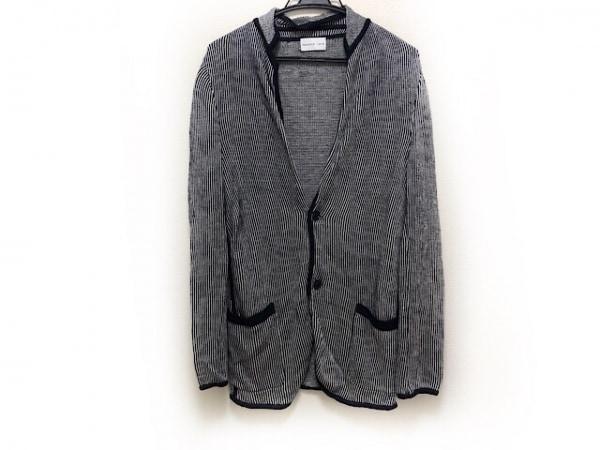 PRINGLE1815(プリングル) ジャケット サイズ38 M メンズ 黒×白 麻/ストライプ