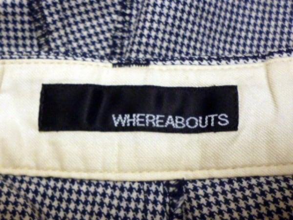 WHEREABOUTS(ウェアラバウツ) パンツ メンズ ネイビー×アイボリー 千鳥格子