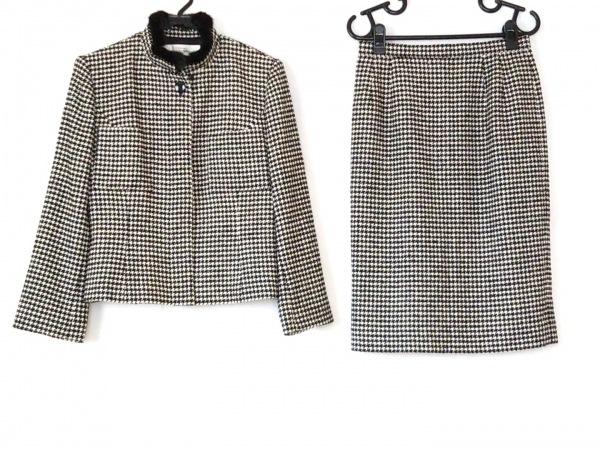 ユキサブロウワタナベ スカートスーツ サイズ38 M レディース美品  黒×アイボリー