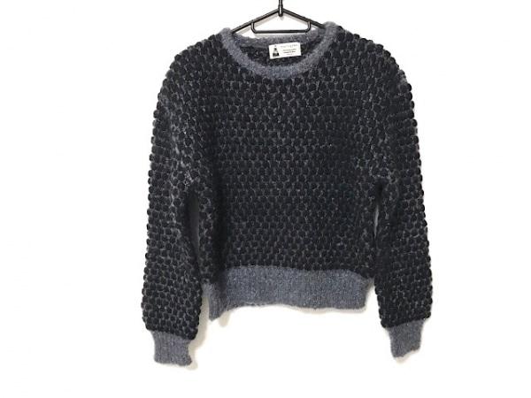 ルルロジェッタ 長袖セーター サイズ1 S レディース美品  黒×ダークグレー ラメ