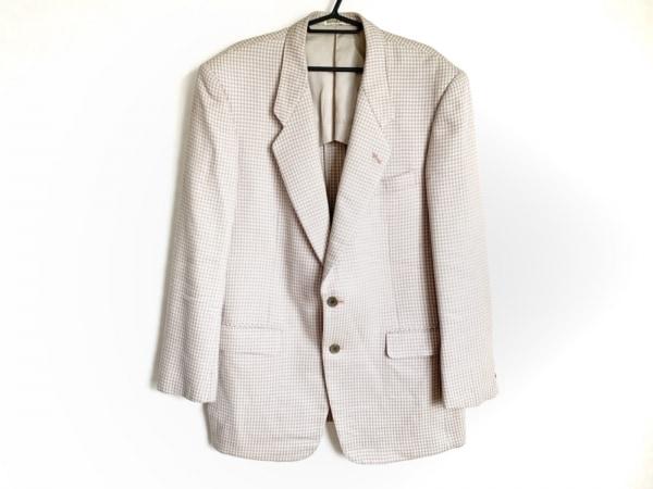 ハナエモリ ジャケット サイズ不明 メンズ ピンク×ライトグレー 千鳥格子/肩パッド