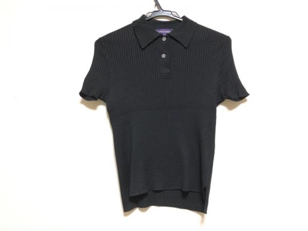 ラルフローレンコレクション パープルレーベル 半袖セーター レディース 黒