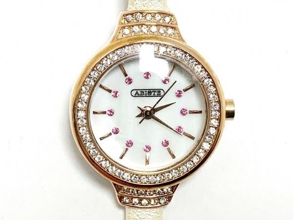 ABISTE(アビステ) 腕時計美品  - レディース シェルホワイト