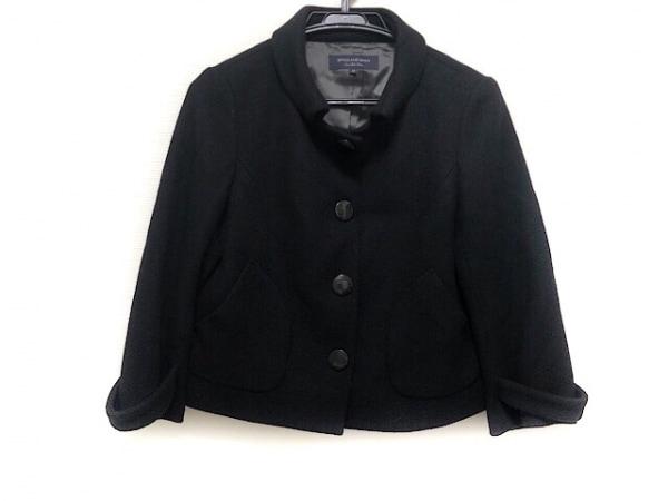Spick&Span(スピック&スパン) コート サイズ38 M レディース 黒 ショート丈/冬物