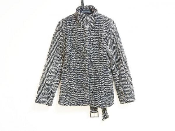 LAUTREAMONT(ロートレアモン) コート サイズ2 M レディース 黒×アイボリー 冬物