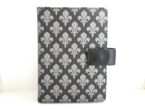 PATRICK COX(パトリックコックス) 手帳美品  黒×シルバー PVC(塩化ビニール)×レザー