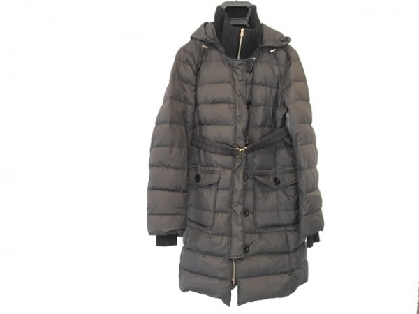 HERNO(ヘルノ) ダウンコート サイズ48 XL レディース 黒 冬物