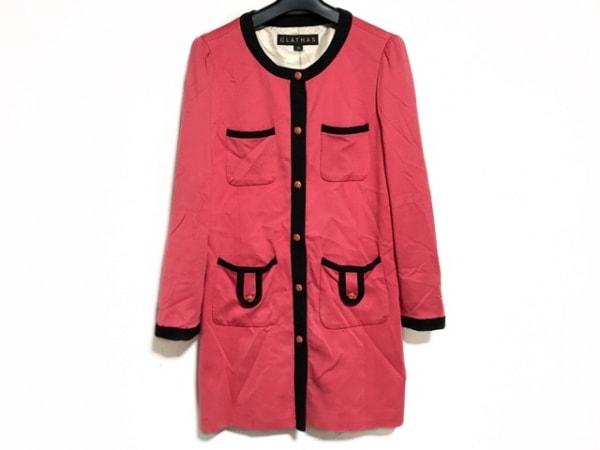 CLATHAS(クレイサス) ジャケット サイズ38 M レディース ピンク×黒 ロング丈