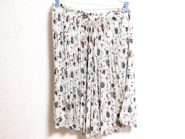 レキサミ ロングスカート サイズ36 S レディース美品  アイボリー×レッド×ブルー