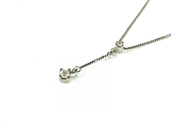4℃(ヨンドシー) ネックレス美品  Pt850×ダイヤモンド 2Pダイヤ