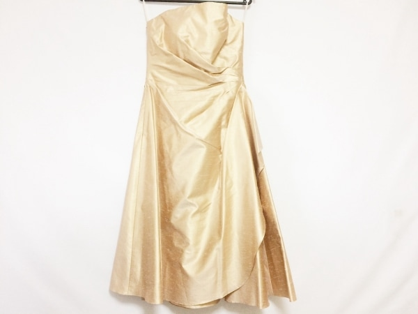 GENETVIVIEN(ジュネビビアン) ドレス サイズ9 M レディース ゴールド