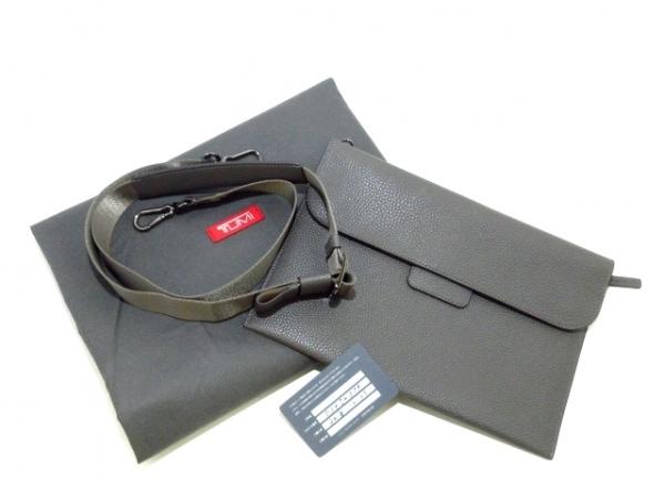 TUMI(トゥミ) ハンドバッグ美品  イヴォンヌ 734503TP ダークグレー レザー